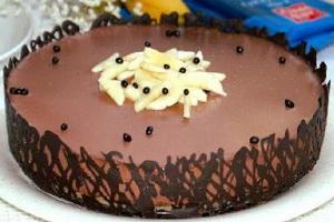 Шоколадно-банановый торт.