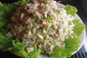 Весенний грибной салат.