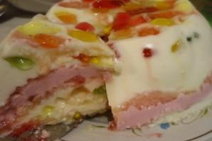 Творожный торт.