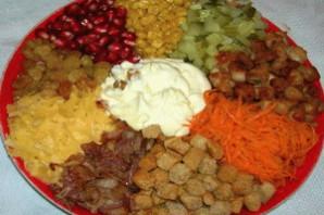 Салат с жареным мясом Калейдоскоп.