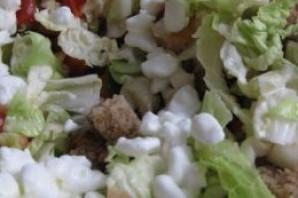 Салат с зернистым творогом