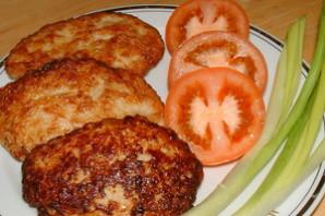 Зразы куриные с грибами и сыром.